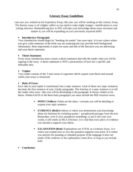 Types Of Literary Analysis