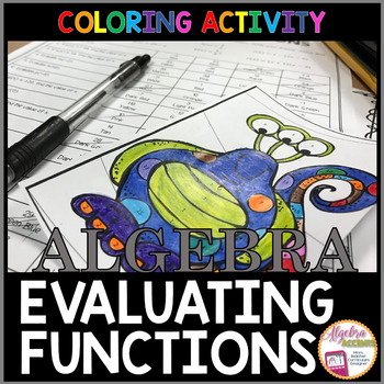 Evaluating Functions Coloring Activity By Algebra Accents