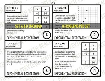 Exponential Regression Scavenger Hunt Activity By Math