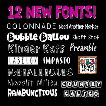 Download FONTS: KB3 MINI PACK 12-Font Set (Personal and Commercial ...