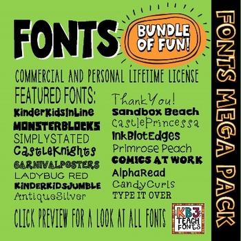Download FONTS MEGA PACK 200+ Fonts (All KB3Teach Fonts) by ...