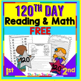 FREE 120th Day of School | Read and Color to Follow Directions and Math