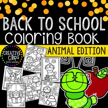 Back to School coloring book that's perfect for the first week of kindergarten