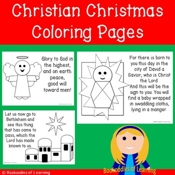 Christian Christmas Coloring Worksheets Teaching Resources Tpt