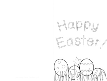 Free Easter Card Template By The Sweet Petite Teacher Tpt