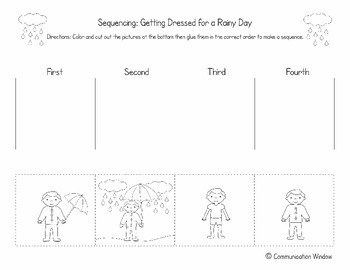 Free Spring Sequencing Cut And Glue Worksheets By