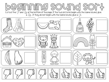 Alliteration Sorting Center Activity For Pre K And