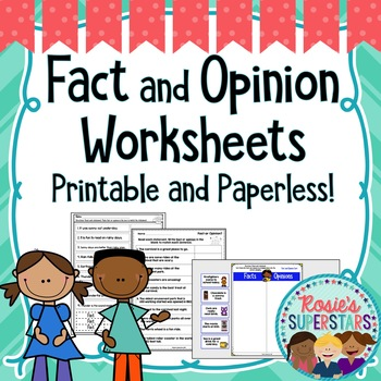 Fact And Opinion Worksheets Printable And Digital By Rosie