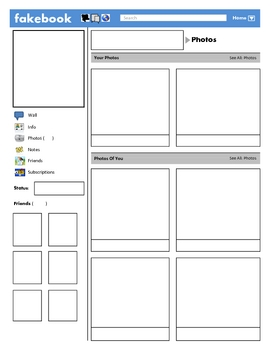 Fakebook Facebook Template By Justin Ford