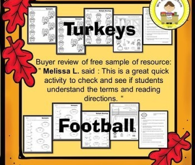 November Vocabulary Synonyms Antonyms Multiple Meanings Following Directions