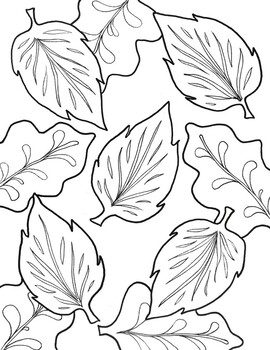 Fall Leaves Coloring Page By Davinci S Workshop Teachers Pay Teachers