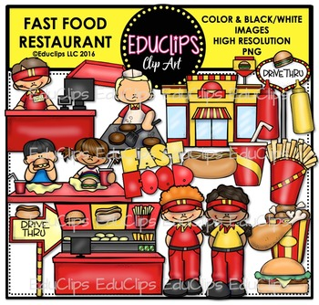 Fast Food Restaurant Clip Art Bundle Educlips Clipart By Educlips