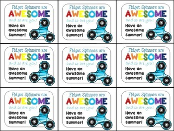 Fidget Spinners End Of Year Gift Tags By Highs And Lows Of