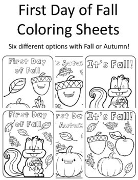 Fall Coloring Sheets Worksheets Teaching Resources Tpt