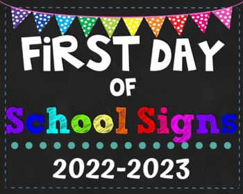 First Day Of School Signs 2019 2020 Pack Prek 8