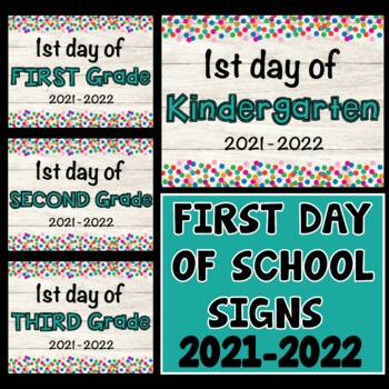 First Day Of School Signs Back To School Signs 2019 2020 First Day Signs