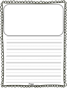 First Grade Opinion Writing Paper Template Lucy Calkins