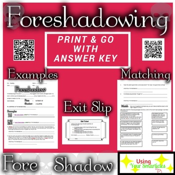 Foreshadowing Definition And Practice Worksheet By Using