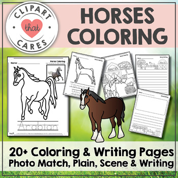 Free Coloring Pages Horses By Clipart That Cares Tpt