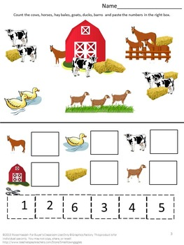 Free Farm Math Worksheets By Smalltowngiggles