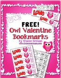 Valentine's Day Free Owl Bookmarks