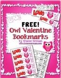 Valentine's Day Free Owl Bookmarks