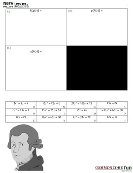 Function Composition Riddle By Common Core Fun