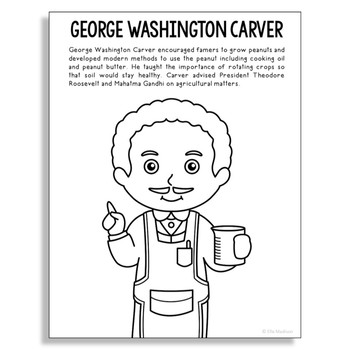 george washington carver coloring page # 4