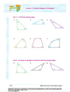 Grade 5 Math Shapes Amp Volume L7 Interior Angles Of