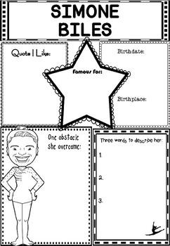 simone biles quote worksheets