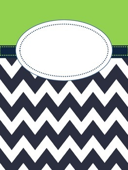 Green And Navy Binder Cover By Christina Cole Teachers Pay Teachers