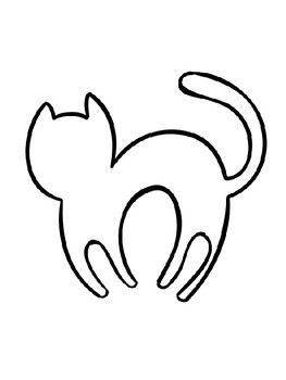 black cat coloring page # 10