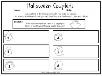 Halloween Poetry Rhyming Activity Amp Writing Couplets By