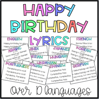 Happy Birthday In Other Languages By The London Teacher Tpt