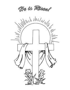 Cross Coloring Page Worksheets Teaching Resources Tpt