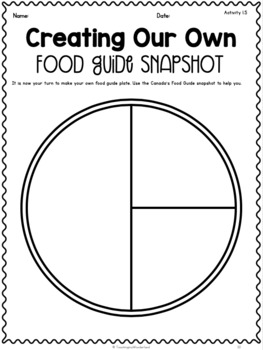 Grade 1 Unit 1 Healthy Eating With Canada S Food Guide Activity Packet