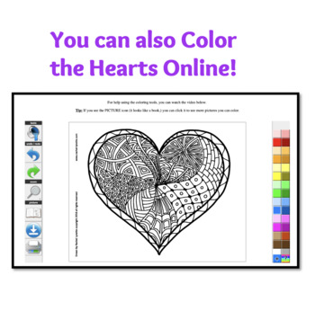 Heart Coloring Pages For Valentine S Day By Rachel Lynette Tpt