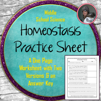 Homeostasis Practice Worksheet Or Homework Assignment By