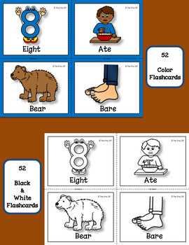 Homophone Hunt Flashcards And Workshets By The Artsy Slp