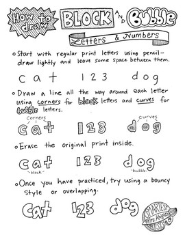 How To Draw Block And Bubble Letters By Mrs Knights Smartest Artists