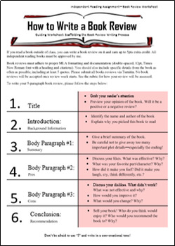 how to write a book review # 4