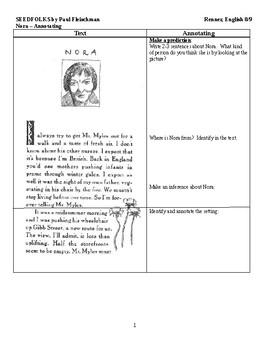 Ir Seedfolks Nora Annotating Worksheet By Renner