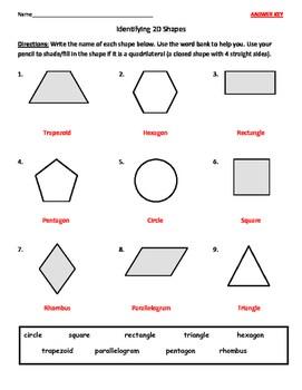 Identifying Quadrilaterals Quadrangles And Naming 2d