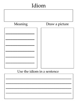 Idiom Worksheets By Laura Torres