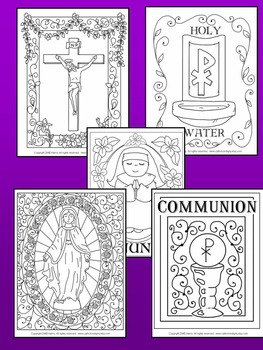 Images Of The Catholic Mass Coloring Book By Happiness Is