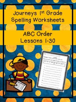 Journeys 1st Grade Spelling Worksheets Abc Order By