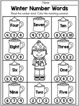 Winter Math No Prep Worksheets By United Teaching