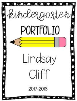 Kindergarten Portfolio Template Worksheets Teaching