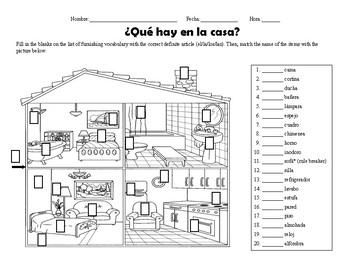 La Casa Labels Worksheets Teaching Resources Tpt