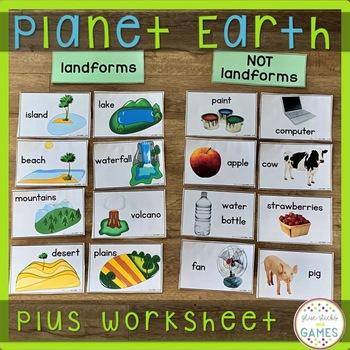 Landforms Activity And Landforms Worksheet For Preschool
